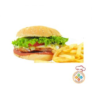 Chicken Burger and Fries (Doble)