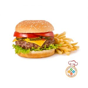 Beef Burger and Fries (Doble)
